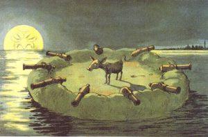 Barakke og Saltholm batterier Blæksprutten 1904
