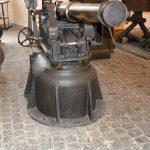 Bagsværdfortet,120 mm. haubits i tårnaffutage