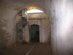 Garderhøjfortet, trappe til skytsetage