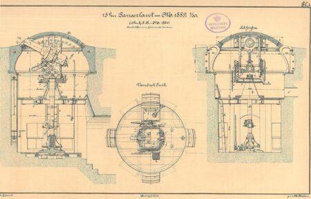 De pansrede tårne i forterne, , 15 cm. panserlavet type 2