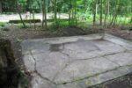 Paradislejren, rest af fundament