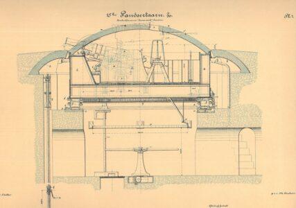 15 cm. pansertårn fra siden