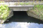 Vestvoldens våde grav, dæmning og underløb