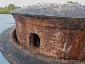 De pansrede tårne i forterne, Forsvindingstårn 75 mm. kanon kanon