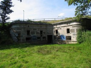 Befæstningens forters opbygning, Gladsaxe fort, saillantkaponieren